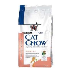 Cat Chow Sensitive, Кэт Чау корм для кошек с чувствительным пищеварением, уп. 15 кг