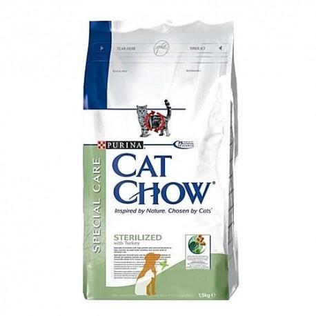 Cat Chow Sterilized, Кэт Чау корм для стерилизованных котов и кошек, 1,5 кг