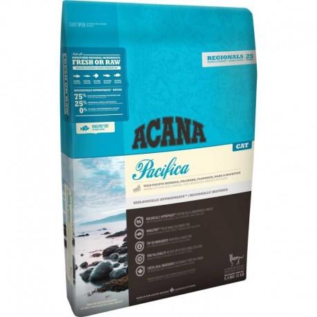 Acana Pacifica Cat 75/25 (Акана Пасифика Кэт), беззерновой корм для котят и кошек на основе рыбы - 0,34 кг.