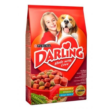 Сухой корм Purina Darling для собак всех пород, мясо с овощами, пакет, 10 кг