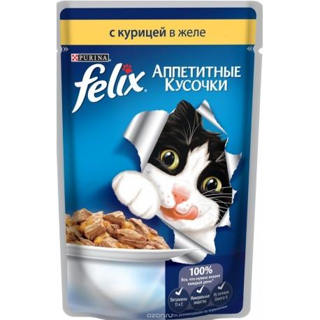 Felix курица в желе аппетитные кусочки пауч 85 гр