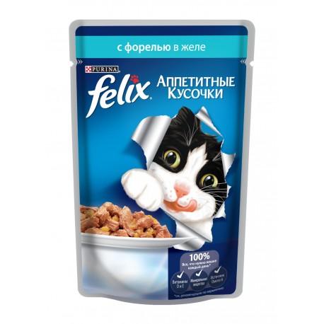 Felix форель в желе аппетитные кусочки пауч 85 гр