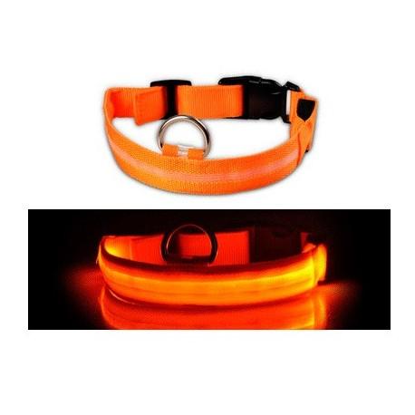 Светодиодный ошейник для собак Luminous Collar for Dogs, размер XL, оранжевый