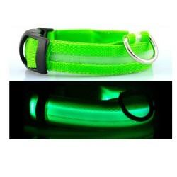Светодиодный ошейник для собак USB, размер XL, зелёный