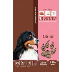 """Дилли для взрослых собак """"Рыба и рис"""" 16кг"""