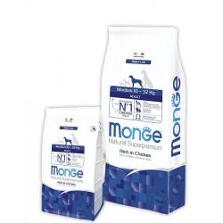 Monge Superpremium Medium Adult, Монже корм для взрослых собак средних пород, уп. 12кг.
