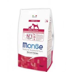 Monge Superpremium Starter Mini for Mother & Baby, Монже корм для щенков, беременных и кормящих собак мелких пород, уп. 1,5кг.