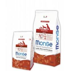 Monge Speciality Line All Breeds Adult Lamb, Монже сухой корм для собак с бараниной, рисом и картофелем, уп. 12кг.