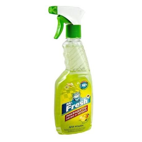 Mr. Fresh Ликвидатор пятен и запаха Mr.Fresh для кошек (спрей) 500мл