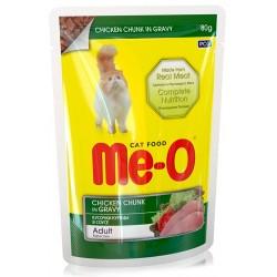 Ме-О Для кошек (пауч), кусочки курицы  в соусе 80гр