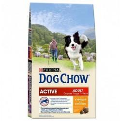 Dog Chow Дог Чау для взрослых активных собак, уп. 14кг