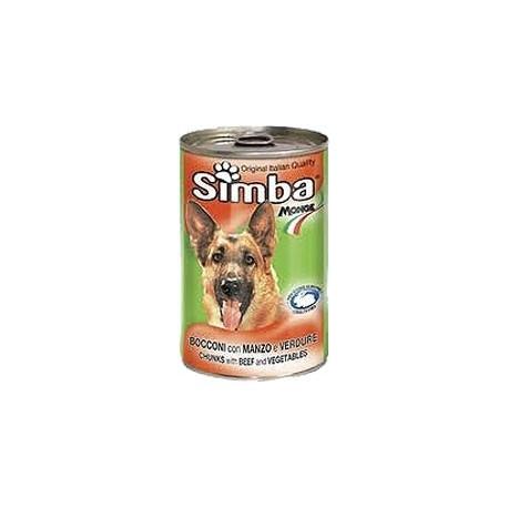 SIMBA, Симба кусочки с ягненком для собак, банка 1230 гр.