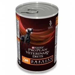 Pro Plan vet Canine OM Obesity Management mousse, диетический влажный рацион для снижения веса собак, банка 400гр.